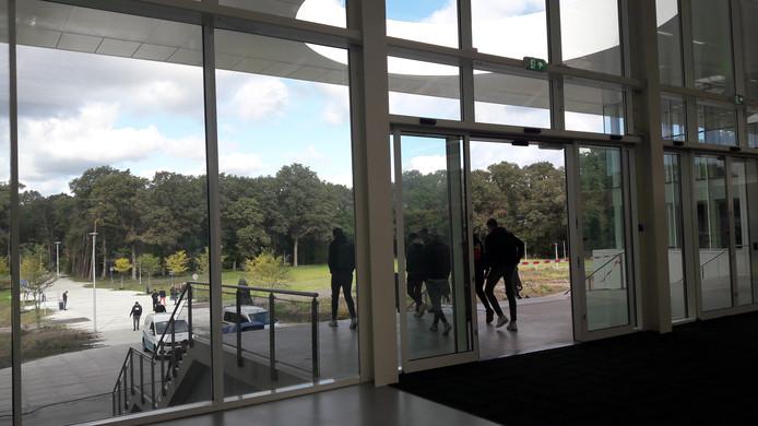 Hoofdentree van de Brainport Industries Campus in Eindhoven. Die wordt donderdag geopend door koning Willem-Alexander.