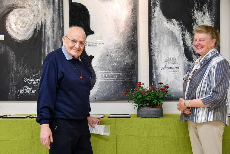 Cecile Verdonck kon bij Broeder Daniel terecht voor een tentoonstelling met haar werk in de Abdij.
