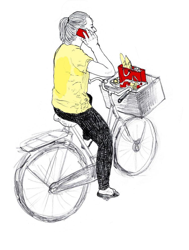 De fietsforens Beeld Ted Struwer