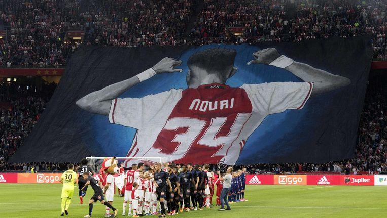 Steunbetuiging aan Abdelhak Nouri in augustus 2017. Beeld ANP