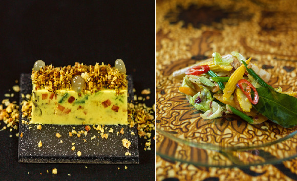 Sajoer Lodeh uit 'De smaak van de Sawa'. Links de moderne versie en rechts de traditionele versie.