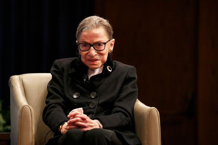 Ruth Bader Ginsburg in oktober 2019. Beeld AP