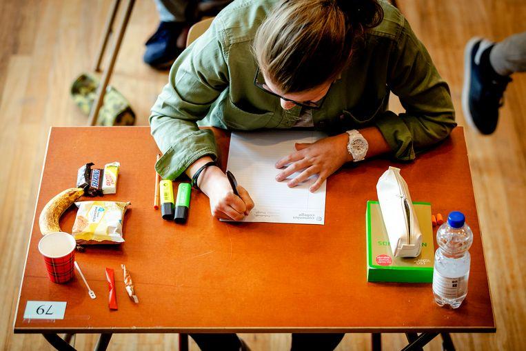 Een leerling doet eindexamen. Beeld ANP