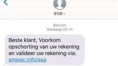 Parket waarschuwt: opletten met frauduleuze berichten van 'AXA'
