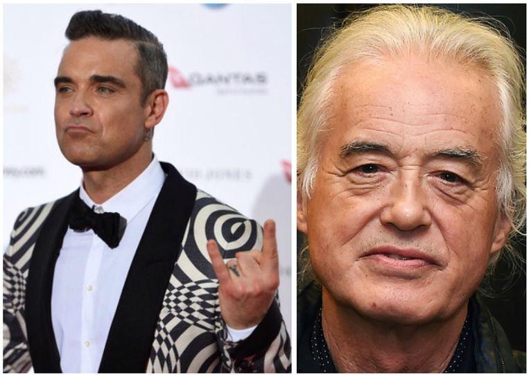 Robbie Williams heeft het aan de stok met Jimmy Page.