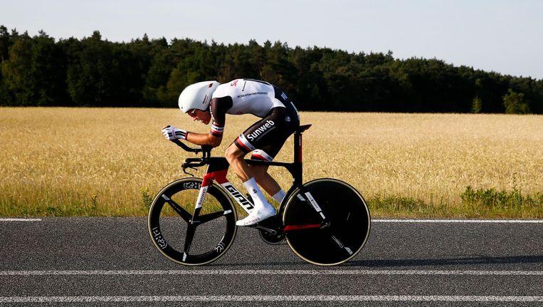 Dumoulin bij het Nederlands Kampioenschap Tijdrijden. Beeld anp