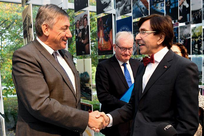 Jan Jambon et Elio Di Rupo en visite d'État au Luxembourg