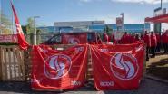 Vakbonden blokkeren hoofdzetel Fluvius in Melle