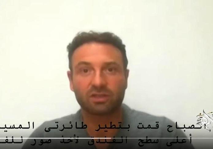 Pieter Bas H. verscheen in Egypte op televisie.