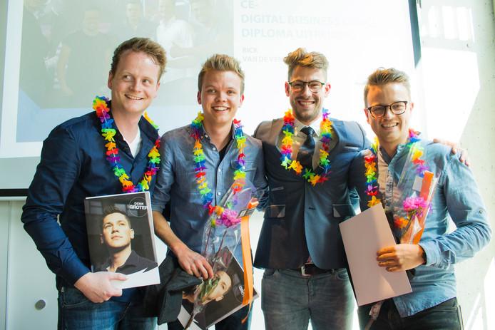 Berny Roefs, Maurice van Wordragen, Rick van de Ven en Jeffrey Kloezeman