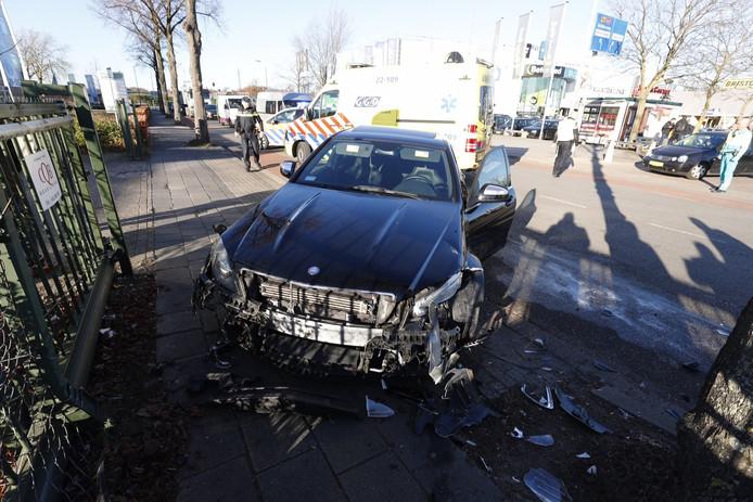 Botsing op de Hurksestraat in Eindhoven