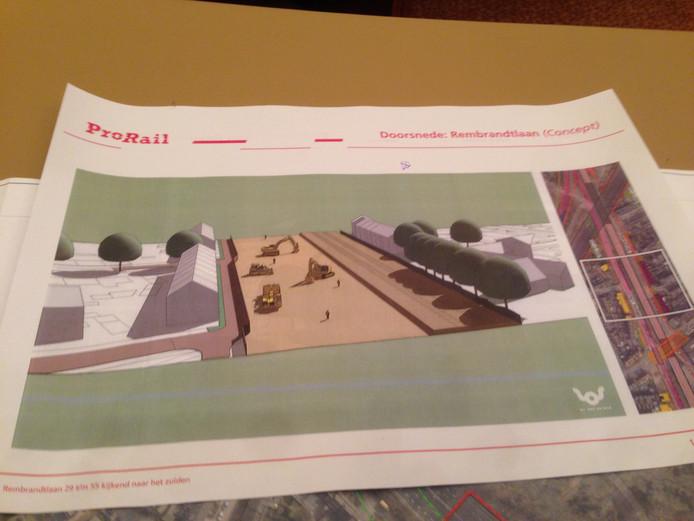 De aanleg van het verdiept spoor en de N65 gaat niet onopvallend.