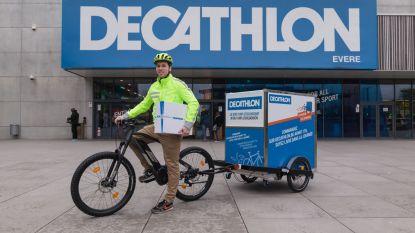 Decathlon Brugge levert pakjes voortaan ook per fiets