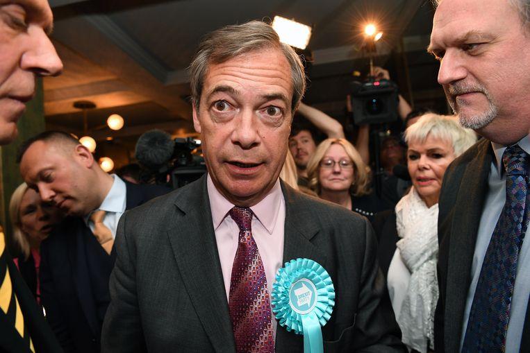Nigel Farage positioneert zich als de redder voor de verongelijkte Britse kiezer Beeld EPA