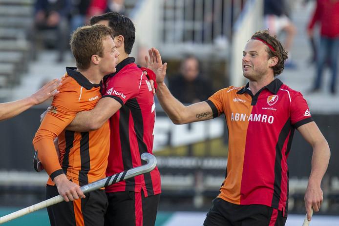 De mannen van Oranje-Rood hebben de Euro Hockey League vrijdagmiddag afgesloten met de negende plek.