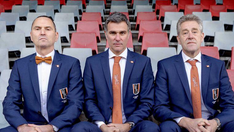 Cabaretiers Raoul Heertje, Viggo Waas en Peter Heerschop. Beeld anp