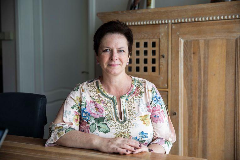 Annick Ponthier, lijsttrekker voor Vlaams Belang in Bilzen, hoopt dat de recente winst van haar partij zich ook doorzet in haar eigen stad.