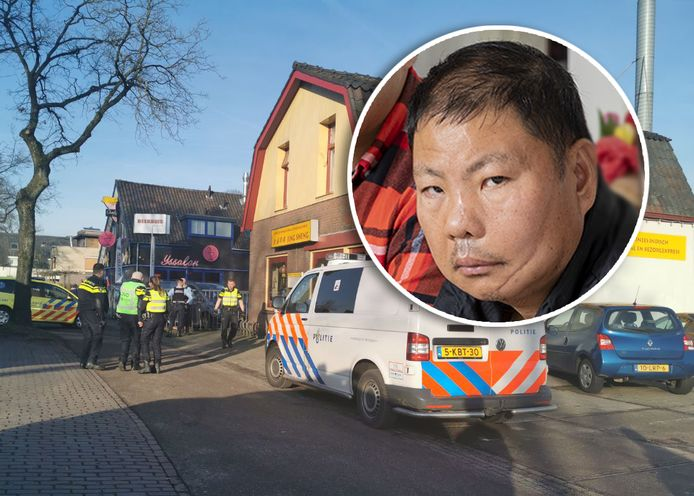 Lin Wang raakte zwaargewond nadat zijn eigen kok hem in het chinees restaurant in Apeldoorn aanviel met een groot mes.