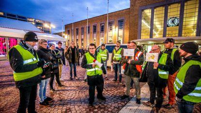 Na oproep tot massaal protest: 11 gele hesjes in Brugge