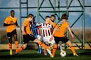 Frenkie de Jong tijdens FC Volendam - Willem II op trainingskamp in het Turkse Lara op 8 januari 2015.