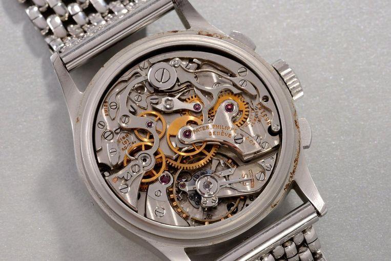 De binnenkant van het uurwerk.