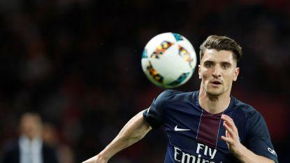 PSG met Thomas Meunier wint ruim van Guingamp en blijft in het zog van leider Monaco