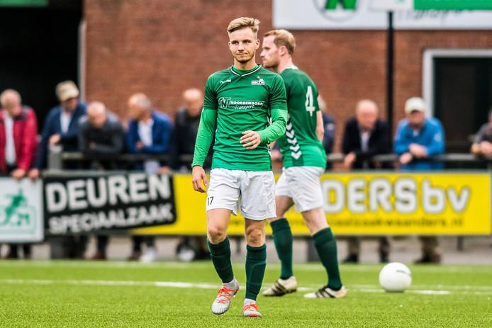 Desney Bruinink  scoorde de 1-0 tegen Hoogland.