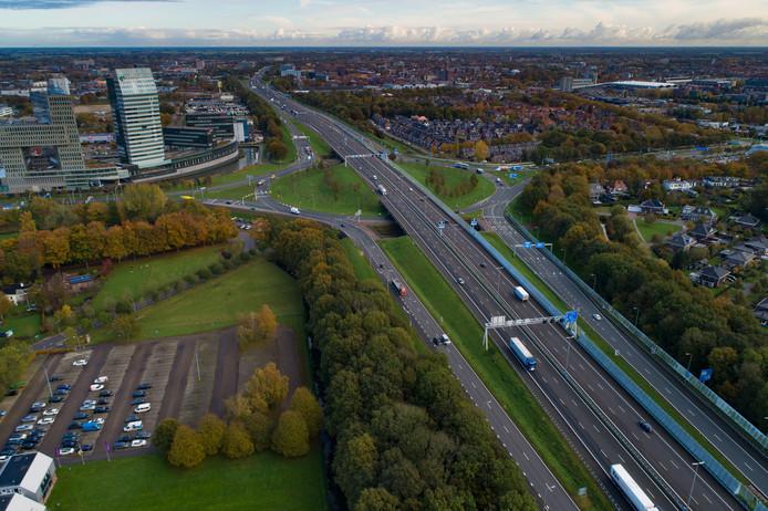 De snelweg A28 bij Zwolle.