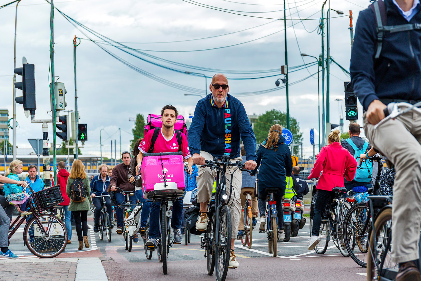 Overvolle fietspaden in Utrecht.