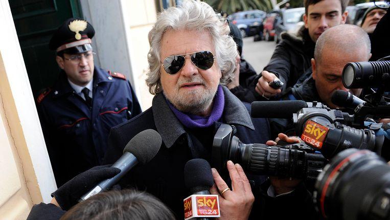 De Italiaanse politicus Beppe Grillo Beeld Reuters