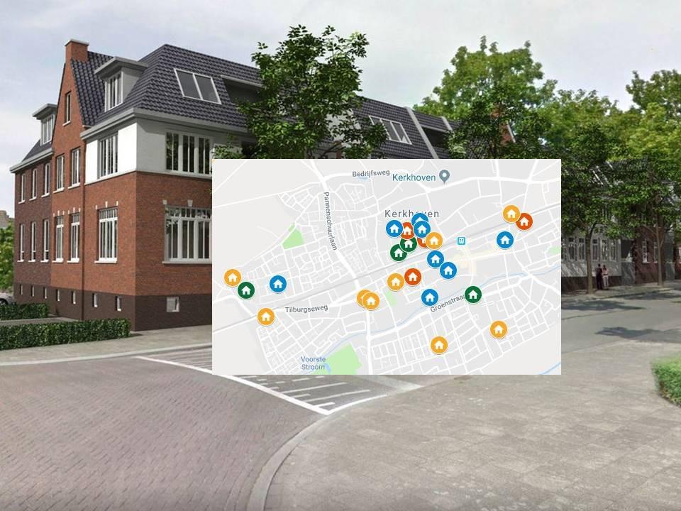BD-kaart Woningbouw in Oisterwijk