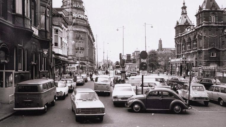 Het Leidseplein in 1972. Beeld Stadsarchief