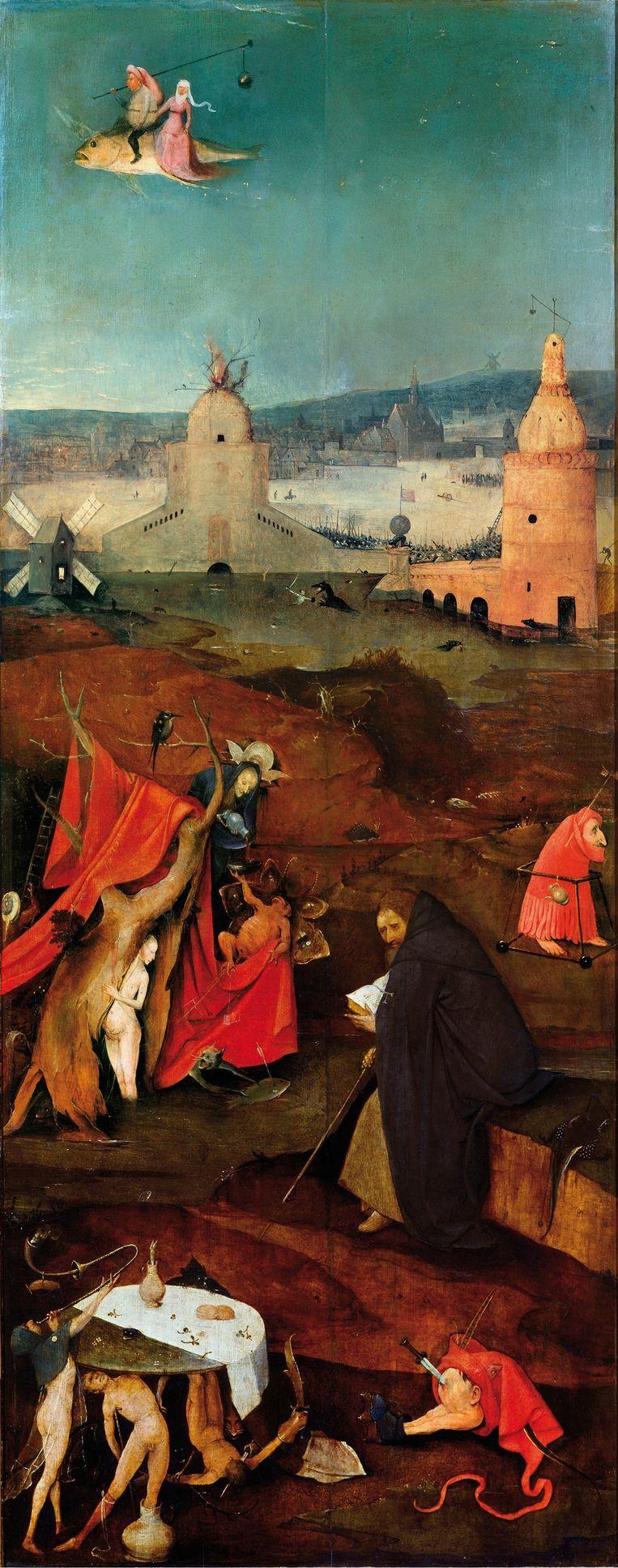 Jeroen Bosch, De verzoeking van de heilige Antonius, rechterpaneel. Beeld .