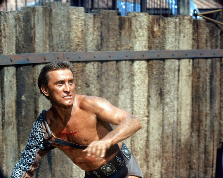 Kirk Douglas in 'Spartacus' Beeld The LIFE Picture Collection via