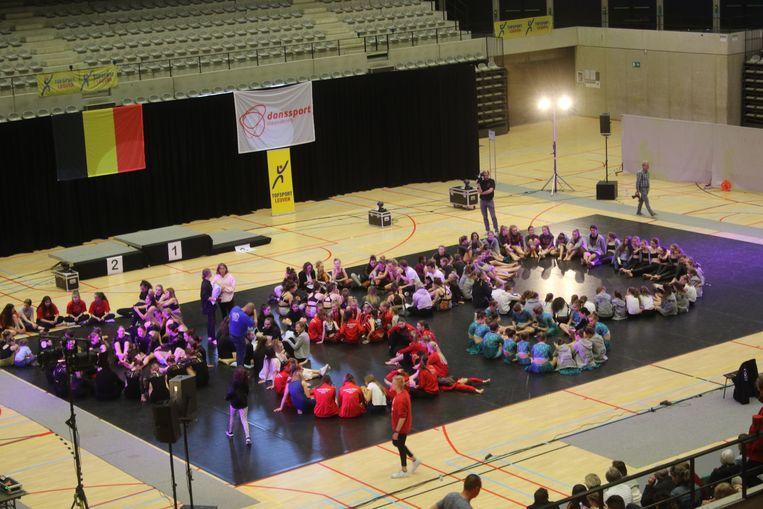 Meer dan duizend deelnemers present op het Belgisch kampioenschap dans in de Sportoase