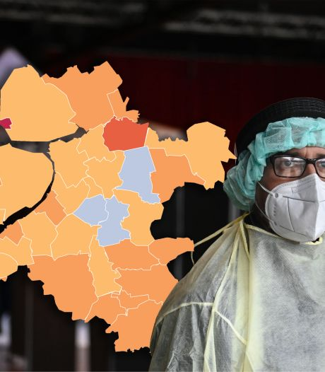 KAART | Positief beeld in Oost-Nederland, Urk enige rode stip op coronakaart