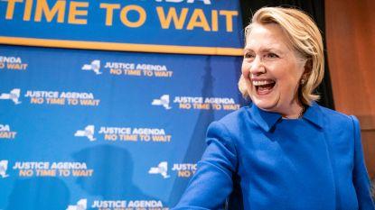 """""""Hillary Clinton sluit niet uit dat ze in 2020 opnieuw mee doet aan de presidentsverkiezingen"""""""
