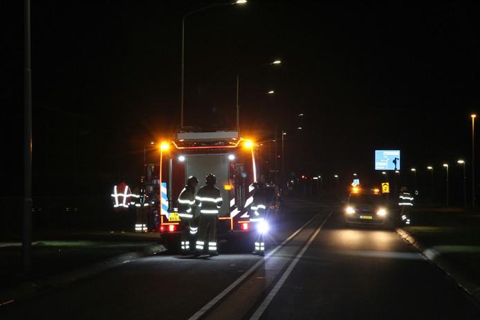 De brandweer kwam met meerdere wagens ter plaatse.