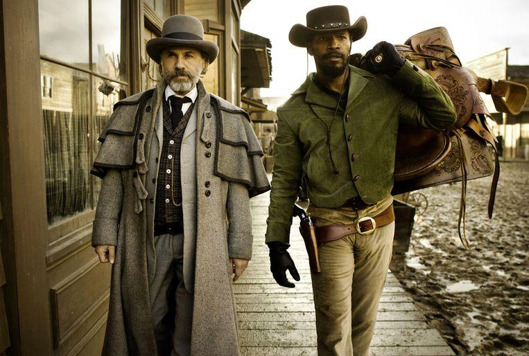 Christoph Waltz (links) en Jamie Foxx in Django Unchained. Beeld AP
