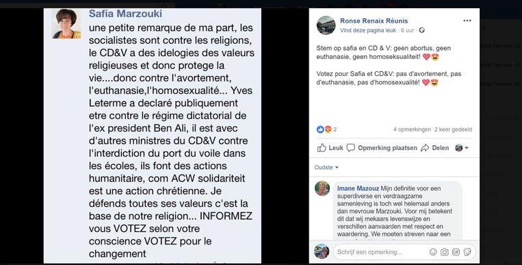 Dit Facebookbericht verscheen op de pagina 'Ronse Renaix Réunis'.
