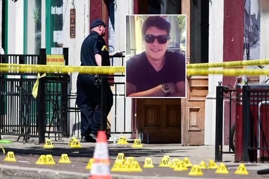 Connor Betts (inzet) schoot onder anderen zijn zus en haar vriend dood bij de schietpartij in Dayton.