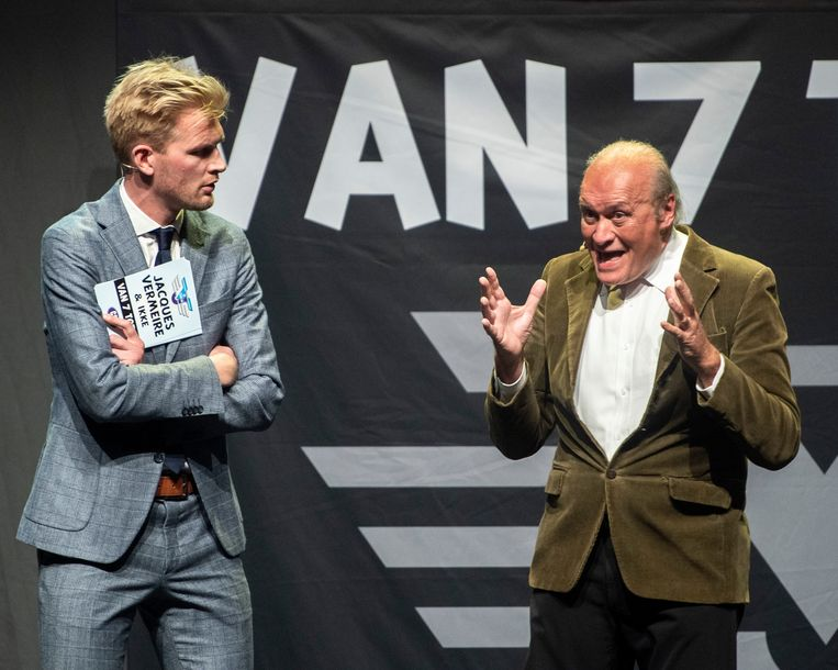 Jacques Vermeire en Ruben Van Gucht in actie.