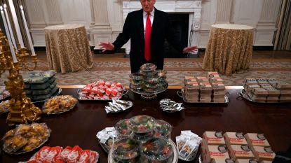 Geen geld door shutdown, dus betaalt Trump groot 'fastfood-feest' in Witte Huis uit eigen zak