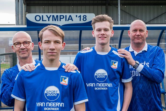 V.l.n.r: Richard Coenen, Tijn Coenen, Tijmen Philips en Robert Philips.