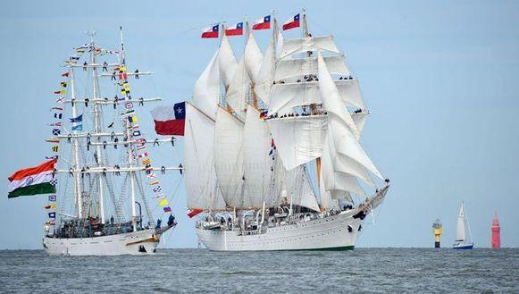 Het Chileense schip Esmeralda.