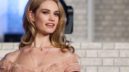 Speculaties over 'verlovingsring' Lily James