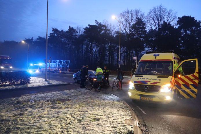 Fietser gewond bij aanrijding door auto