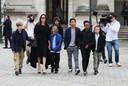 Angelina Jolie met Zahara, Pax, Shiloh, Vivienne, Knox en Maddox