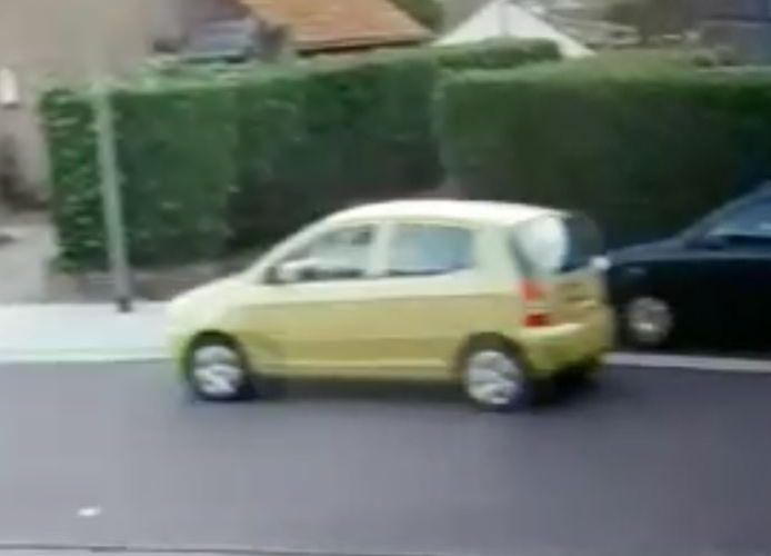 De auto waarmee Celine zou zijn opgepikt.