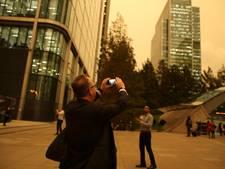 Orkaan Ophelia legt oker instagramfilter over Britse lucht